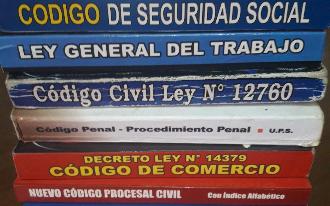 DONACION DE CODIGOS Y DISPOSICIONES LEGALES  a CENTROS DE ESTUDIANTES
