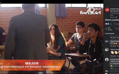 Premio Mejor Documental Estudiantil en el Festival Internacional de Cine de Santa Cruz.