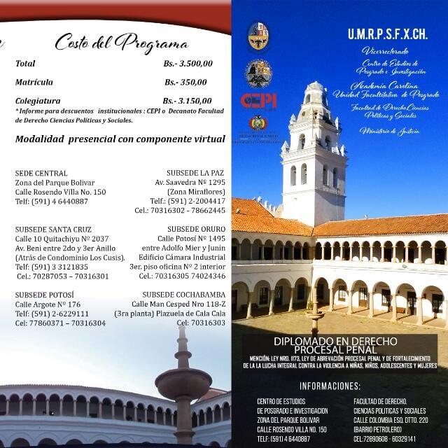 PROGRAMAS DE POSGRADO: Organizados por la Academia Carolina dependiente de la Unidad Facultativa de Posgrado de la Facultad de Derecho, Ciencias Políticas y Sociales