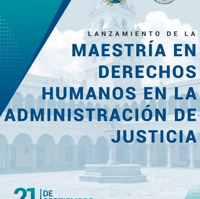 Maestría: «Derechos Humanos»